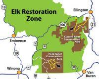 The elk tour loops